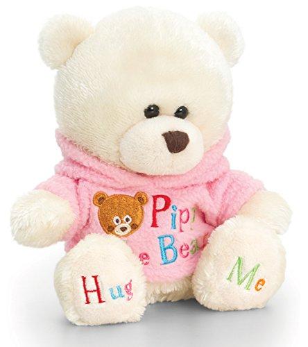 Lashuma Plüschtier Bär, Pipp The Bear mit rosa T-Shirt, Kuscheltier Teddy Verkleidet, Teddybär mit Kleidung 14 cm