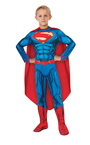Rubies DC Comics Deluxe Muscle-Chest Superman Costume, Large (12-14)