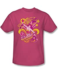 Wonder Woman Save Me Adult S/S T-shirt in Hot Pink by DC Comics