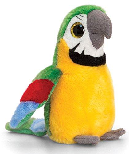 Lashuma Plüschtier Papagei mit Glitzeraugen, Sparkle Eyes Ara in gelb, Kuscheltier 20 cm