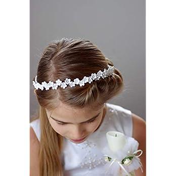 Haarschmuck, Haarband für Kommunion, weiß o. ivory