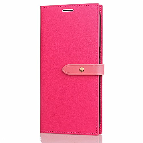 Ultra Thin Leight Gewicht PU Ledertasche Business Style Brieftasche Stand Case Retro Folio Tasche mit Gürtelschnalle & Card Slots für iPhone 6 & 6s ( Color : Gray ) Rose