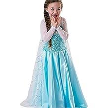 Disfraz Princesa para niñas, no Disney, Productos de alta calidad , azul claro, 110cm