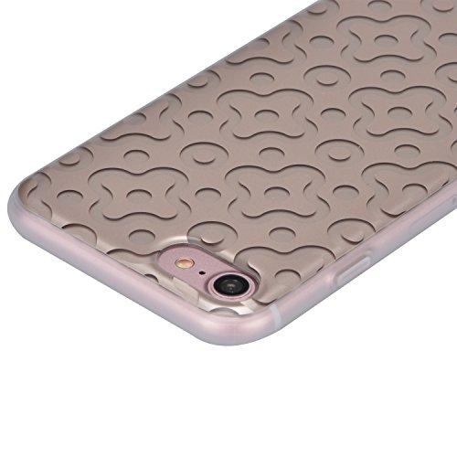 Cover per iPhone 7, Custodia per iPhone 7, Sunroyal Creativo Cover Soft Morbida in Silicone Gel Gomma TPU Ultra Thin Slim con Bordo Protezione Fotocamera e Tappo Antipolvere per iPhone 7 (4.7 pollice) Modello 14