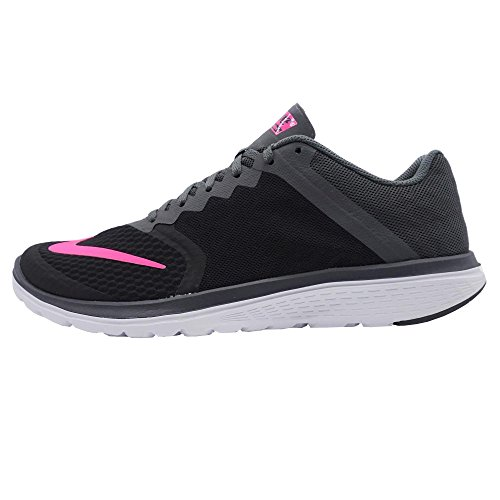 Nike Wmns Fs Lite Run 3, Chaussures de Running Entrainement Mixte Adulte Noir (Noir / Rose Explosion-Dark Grey-Wht)