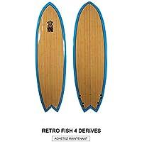 HONU - Tabla de Surf Fish 64, diseño Retro