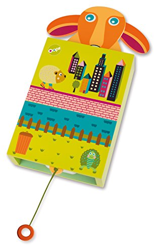 Oops musicale Pop-Up amico Mr Happy Dog design Wall Hanging Wooden Musical Box