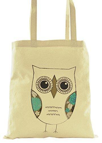 Damen Baumwolle Leinen Tier Design Schulter / Einkaufstasche Einzel Owl