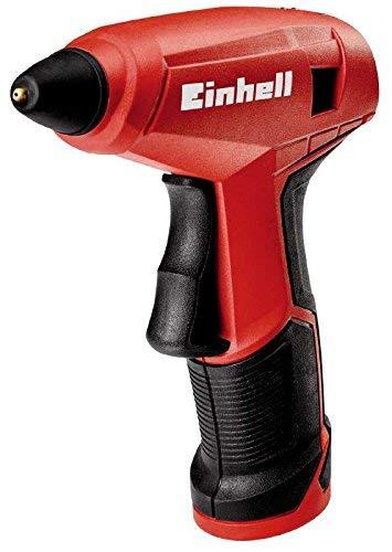 Einhell Akku-Heißklebepistole TC-CG 3,6 Li (Lithium-Ionen, Anti-Tropf-System, 15 Sek. Aufheizzeit, inkl. Metallbox, Ladegerät und 4 Heißklebestiften)