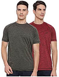 Proline Active Mens Olive/Red Tshirt(PA032OLSD/RDSD)-Pack Of Two