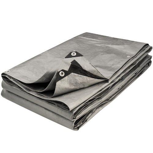 Provence Outillage 5083 - Lona protectora (3 x 2,40 m), color gris y negro