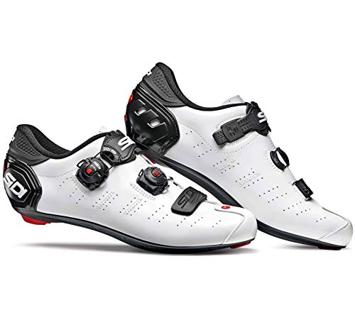 Sidi Weiß Schwarz 2019 Ergo 5 Mega Fahrradschuhe (EU 43, Weiß)