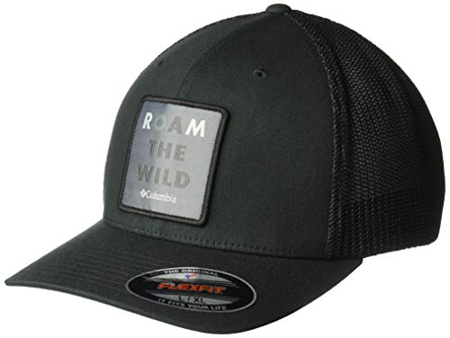 Columbia Herren Trail Ethos Mesh Hat Baseball Cap, Black, Roam The Wild, X-Large Columbia-mesh-hut