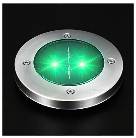 Solar Ground Lights, Rcool Solar 2 LED Power Light Waterproof