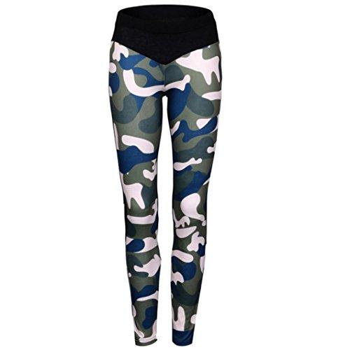 Toamen Pantalon de survêtement camouflage Vêtement de sport pour Femmes Mode (L, Camouflage)