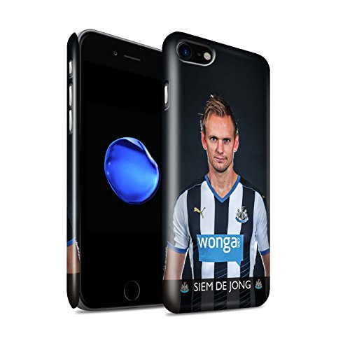 Offiziell Newcastle United FC Hülle / Glanz Snap-On Case für Apple iPhone 7 / Elliot Muster / NUFC Fussballspieler 15/16 Kollektion De Jong