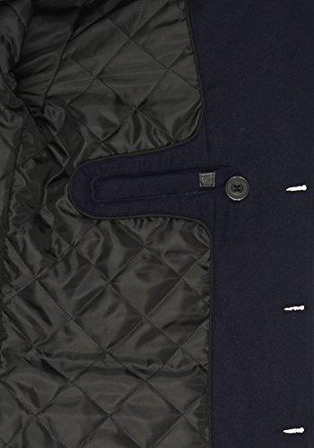 Blend Warren Herren Winter Mantel Wollmantel Lange Winterjacke mit Stehkragen, Größe:S, Farbe:Navy (70230) - 6