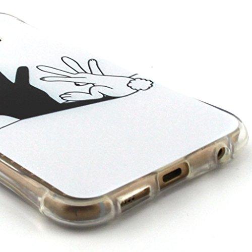 Uming® Crashsichere Crashproof Serie Bunte Muster Druck Zeichnung weichen TPU Fall Abdeckung Hülle ( Rabbit hand shadow - für IPhone6SPlus IPhone 6SPlus 6Plus IPhone6Plus ) Airbag Blase Tropfen Beweis Rabbit hand shadow