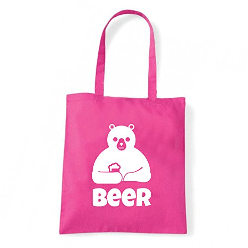 Art T-shirt, Borsa Shoulder Beer, Shopper, Mare Fucsia