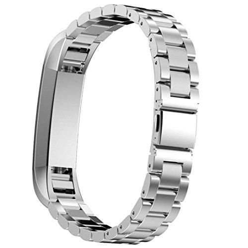 Omiky® Fashion 2017 Edelstahl Uhrenarmband Armband für Fitbit Alta HR Smart Watch (Silber_G)