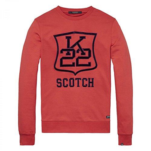 Scotch & Soda Logo Artwork Sweater, Felpa Uomo Skipper Red