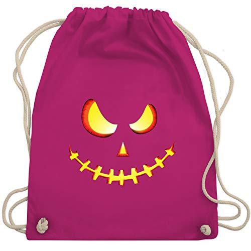 Halloween - Gruseliges Kürbis-Gesicht - Unisize - Fuchsia - WM110 - Turnbeutel & Gym Bag (Kürbis-gesicht Halloween Ideen)
