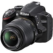 (CERTIFIED REFURBISHED) Nikon D3200 24.2MP Digital SLR Camera (Black) With AF-S 18-55mm VR Kit Lens, 8GB Card, Camera Bag