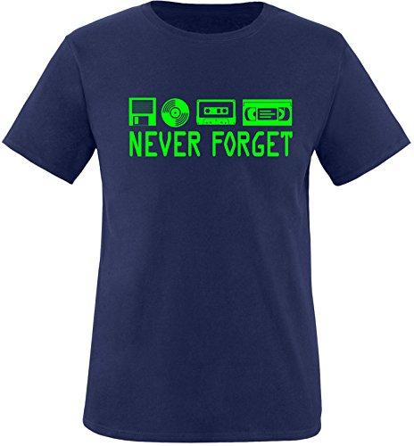 EZYshirt® Ich Irre ? Vielleicht sollte ich mal von meinem Einhorn steigen und dir eine knallen Crew-Neck T-Shirt Navy/Neongrün