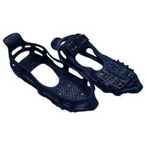 41rULprzHNL. SS300  - Streetwize SWWR15 Snow Grip Shoes, UK Size 6.5-9 (1 Pair), Steel Studs, Winter Travel Gear Black