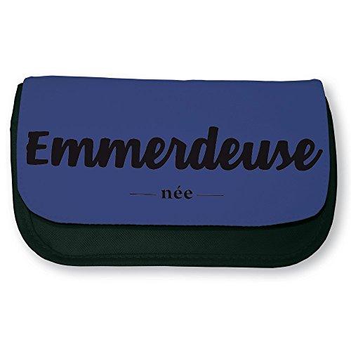 Trousse noire de maquillage ou d'école Emmerdeuse née - Fabriqué en France - Chamalow shop