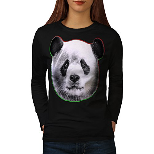 cracked-wood-panda-timber-style-women-new-black-l-long-sleeve-t-shirt-wellcoda