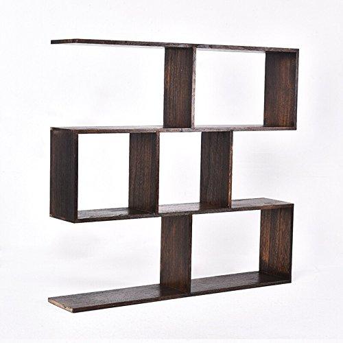 Divisor de pared de madera maciza chino / estante de vino de la sala / estante / librería cuatro negro 80CM largo * 15CM de profundidad * 75CM de alto
