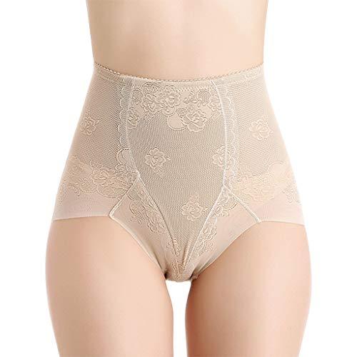 JYJM_Femme Culotte Invisible Panty Minceur Body Gaine Amincissante Plat Ventre Nylon Panty Réparation Post-Partum Mise en Forme sous-vêtements(Beige,XXXL)