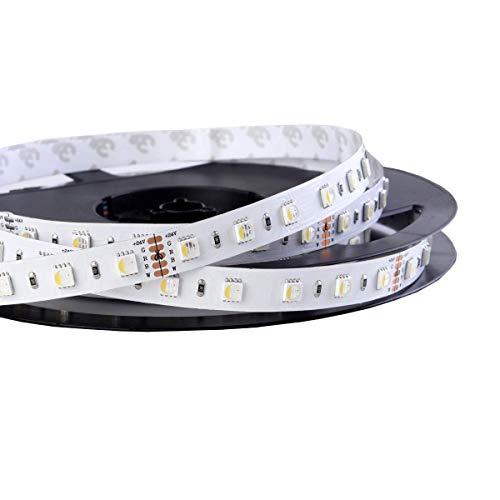 iluminize LED-Streifen RGBW 4 in 1: sehr hochwertiger LED-Streifen RGBW warmweiß (3000K) mit 60 LEDs pro Meter, hoch selektiert, 24V, 19,2W pro Meter (3000K IP65NANO Rolle 5m)