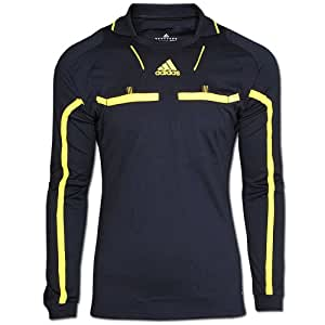Adidas Referee Jersey LS Mens long sleeve Jersey T-Shirts Tricots Formotion ClimaCool Football soccer Punjab/Neon Yellow (Punjab/Neon Yellow, S)