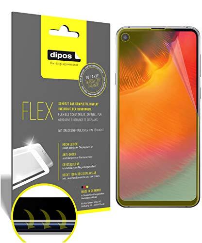 dipos I 3X Schutzfolie 100% passend für Samsung Galaxy A8s Folie I 3D Full Cover Bildschirmschutzfolie
