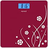 Venus EPS-6399 Personal Electronic Digital Lcd Weight Machine with Back Light (Red)