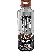 Monster Muscle Chocolate Protein Energy Shake - Energy Milkshake - 444ml Bottle …