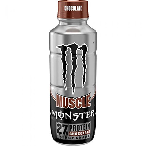 Monster Muscle Chocolate Protein Energy Shake - Energy Milkshake - 444ml Bottle …