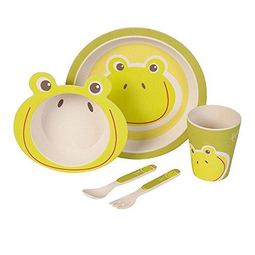 Set–couvert-Grenouille-Ustensiles-en-bambou-Ustensiles-pour-enfants-rutilisables-Assiettes-Gobelets-Bol–muesli-cuillre-fourchette-rsistant-au-lave-vaisselle-sans-BPA