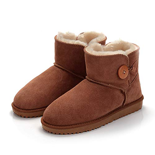 Schneeschuhe Weibliche Eine Kurze Tube Männer Und Frauen Schuhe Winter Tube Stiefel Baumwolle Schuhe, 35, Maroon B ()