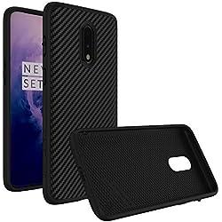 RhinoShield Coque pour OnePlus 7 [SolidSuit] Housse Fine avec Technologie Absorption des Chocs & Finition Premium - [Résiste aux Chutes de Plus de 3,5 mètres] - Finition Fibre de Carbone