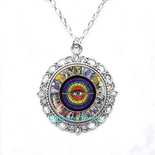 Tarot-Karten Anhänger, Tarotkarte, Halskette, Alchemy Schmuck, Wiccan Schmuck, Tarot-Halskette, Metaphysischer Schmuck, Mystic Tarot-Halskette, Q0035
