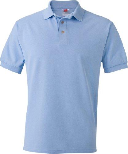 Hanes Herren Poloshirt Hellblau