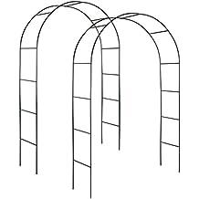 TecTake Conjunto de 2 arco para enredaderas | arco de rosas
