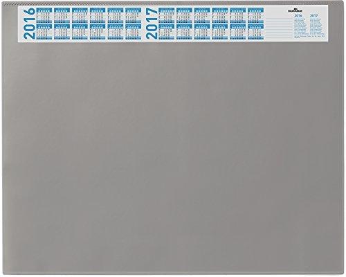 Durable Schreibunterlage 7204 mit Jahreskalender und Vollsichtplatte, 650 x 520 mm (grau / 2er Pack)