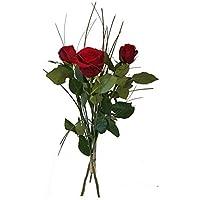 Lamdoo 144 st/ücke DIY Rose Mini K/ünstliche Blumen Bouquet Einfarbig Hochzeitsdekoration Licht Lila