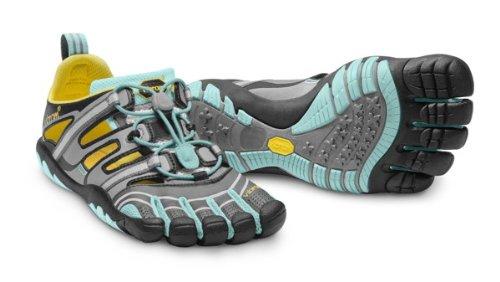 Vibram Five Fingers - Treksport Sandal (Damen) - Zehenschuhe - Black/Dark Grey Schwarz