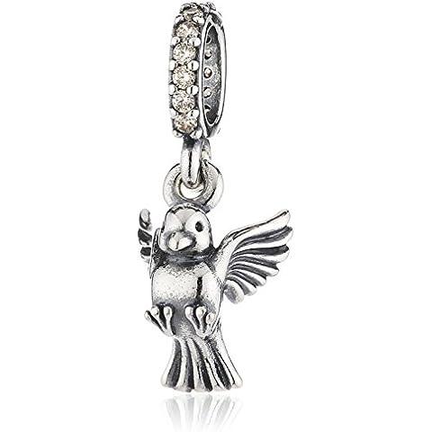 Pandora 791394CCZ - Abalorio de plata con circonita