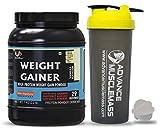 Advance MuscleMass High Protein Weight Gainer Supplement Powder with 700 ml Shaker